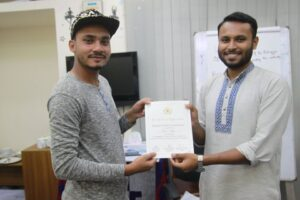 BANMUN 2018 Organizers Certificate Distribution